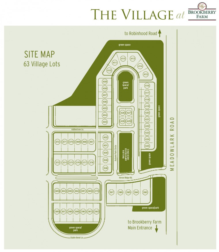 Brookberry Farm Site Map - Sonoma Building Company