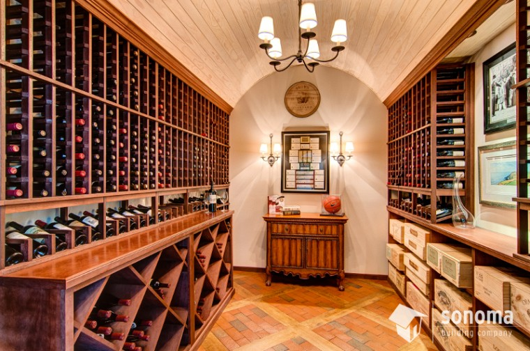 Sonoma building company wine cellar for Building a wine cellar at home