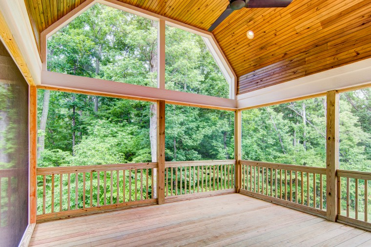 Lake at Lissara, Sonoma Building Company, Screen Porch, Lewisville, NC