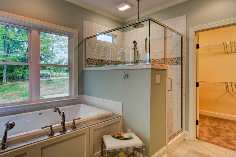 Master Bathroom, Custom Home, Sonoma Building Company, Parade of Homes, Lewisville, North Carolina
