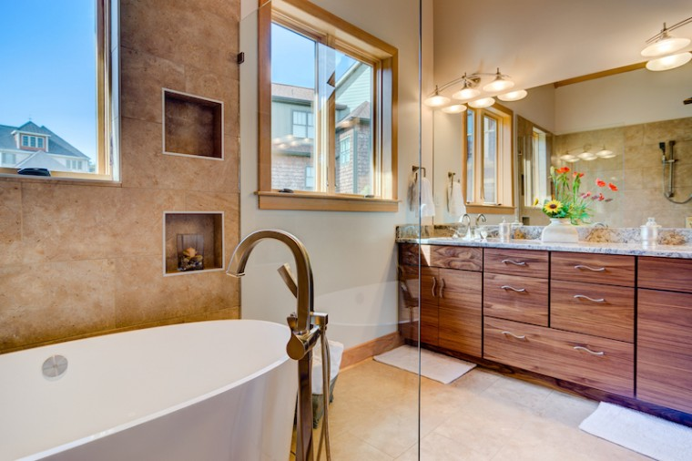 Sonoma Building Company, Master Bathroom, Custom Home Builder