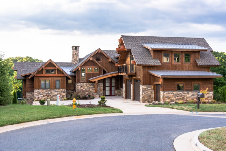 Custom Home, Sonoma Building Company, Modern Mountain Villa, Timber Frame