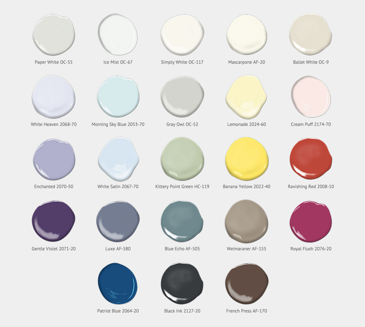 Shades of 2016 paint color forecast for Paint color palette